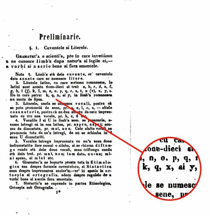 detaliu compendiu de gramatică a limbii române
