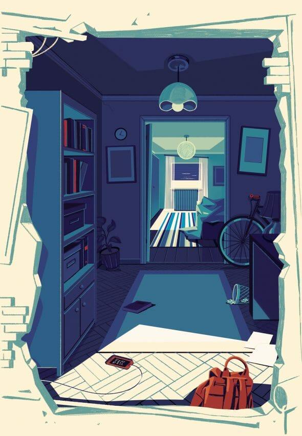 ilustrație ioana șopov interior cameră