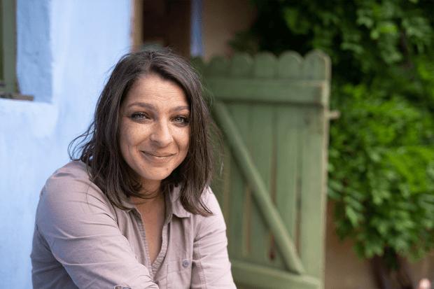portret Anca Dalmasso în Saschiz