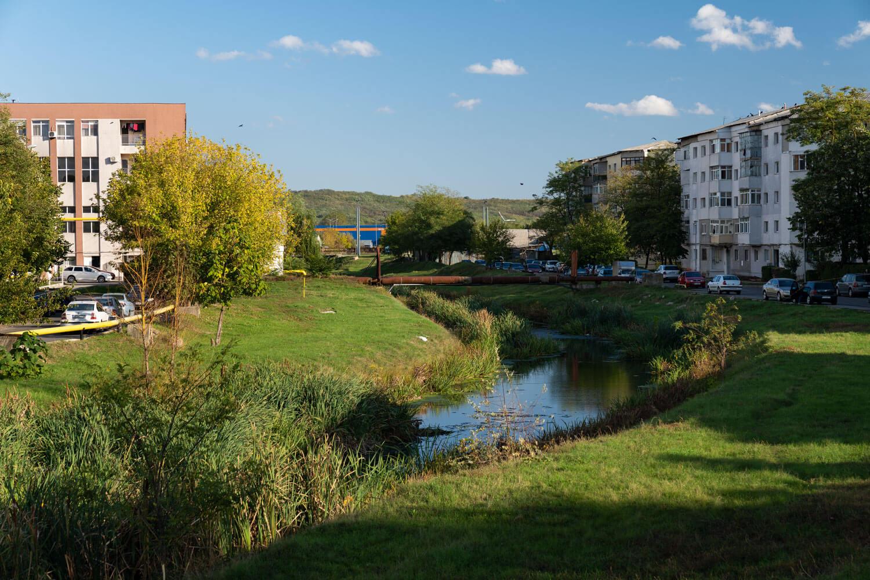 pârâul Delea traversează orașul aproape de gara Vaslui