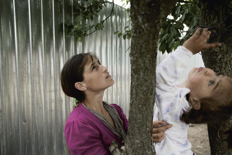 Madalina cu Maria in copac