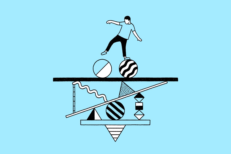 Ilustrație despre păstrarea echilibrului