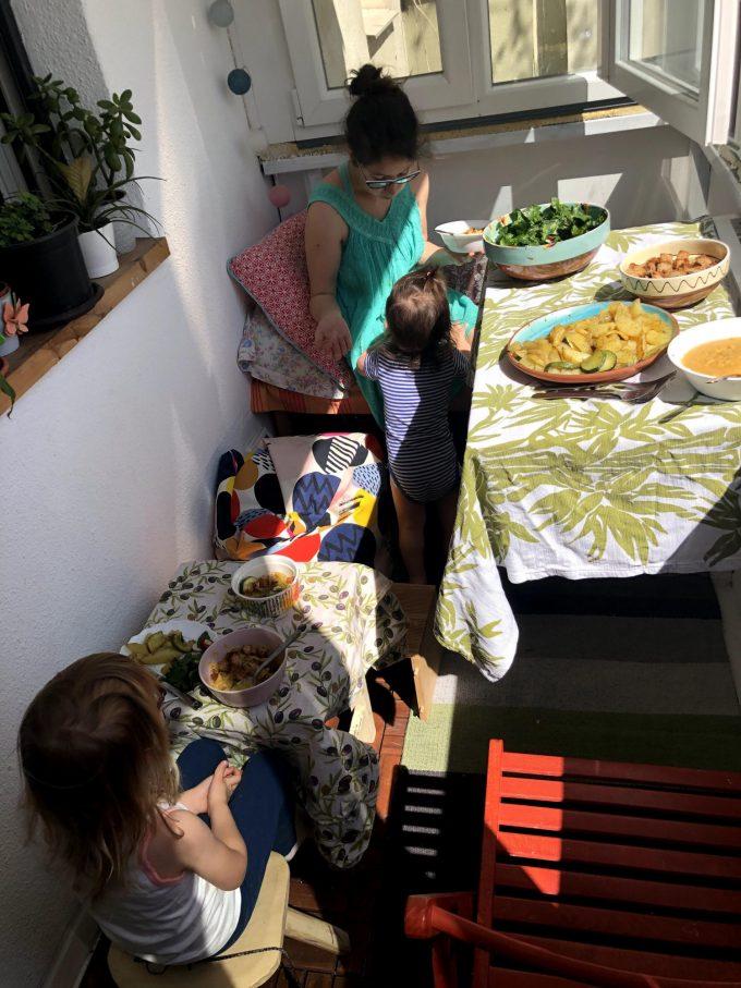 pranzul la masa facuta de Florin in carantina