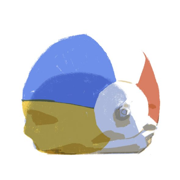 ilustrație opm care poartă o cască de înot