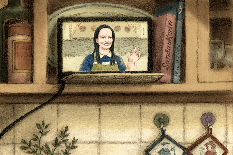 Ilustrație Bucătăria Jamilei