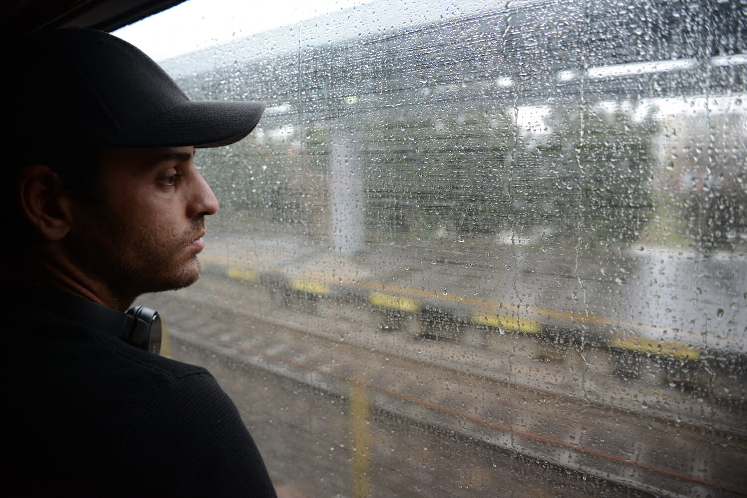 Izidor Ruckel looks out the window of a train last April. He was on his way to his hometown of Sighetu Marmatiei, Romania. (Thomas B. Szalay / For the Times)
