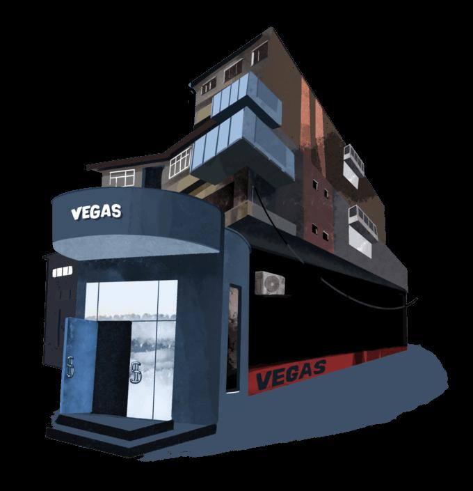 randare casă de noroc la parterul unui bloc de locuințe
