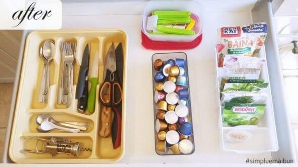 un sertar după organizare