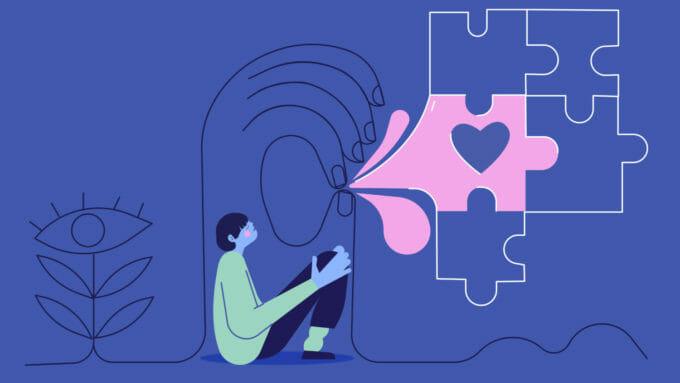 Copil care nu vorbește și puzzle