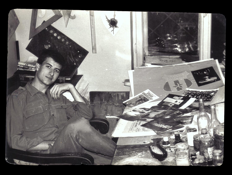 Ion Tarara în timpul stagiului militar.