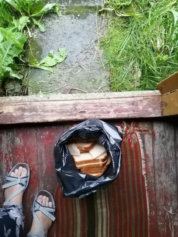 Pâinea pe care a primit-o Anca la Putna