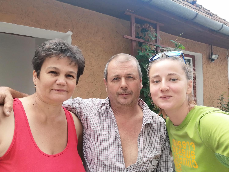 Anca cu Enikő și István Cseke